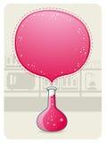 Cristalería de laboratorio con una burbuja grande Fotografía de archivo