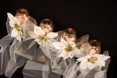 Cristalería del día de fiesta Foto de archivo libre de regalías