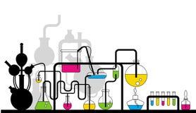 Cristalería química Foto de archivo libre de regalías