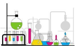Cristalería química Fotografía de archivo libre de regalías