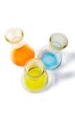 Tres frascos coloridos Fotografía de archivo
