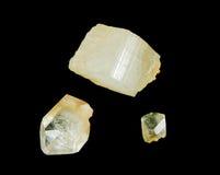 Cristales ásperos del topacio Fotos de archivo libres de regalías