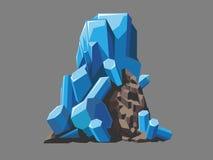 cristales ilustración del vector