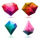 Cristales abstractos coloridos fijados Vector ilustración del vector