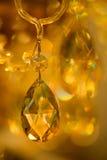 Cristales amarillos hermosos imagen de archivo
