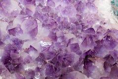 Cristales Amethyst imágenes de archivo libres de regalías