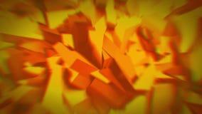 Cristales anaranjados animados 4K stock de ilustración