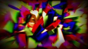Cristales animados coloridos 4K stock de ilustración