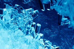 Cristales azules foto de archivo
