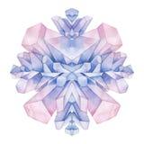 Cristales coloreados pastel de la acuarela libre illustration