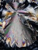 Cristales coloridos del ácido cítrico   imágenes de archivo libres de regalías