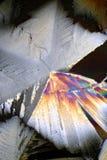 Cristales coloridos del ácido cítrico Fotografía de archivo