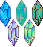 Cristales coloridos hermosos con pendiente y los bordes que sorprenden libre illustration