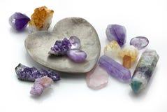 Cristales curativos Imagenes de archivo
