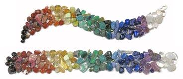 Cristales curativos de Chakra Imagenes de archivo