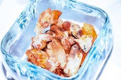 Cristales de Arkansas en tarro Imagen de archivo