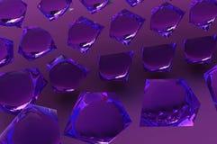 Cristales de cristal púrpuras abstractos stock de ilustración