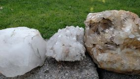 Cristales de cuarzo Fotos de archivo