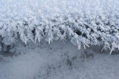 Cristales de hielo Foto de archivo libre de regalías