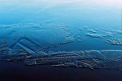 Cristales de hielo Imágenes de archivo libres de regalías