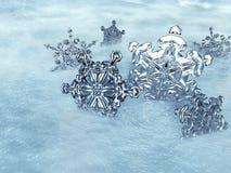 Cristales de hielo Fotografía de archivo