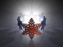Cristales de hielo - 3D ilustración del vector