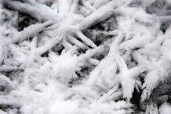 Cristales de hielo fotografía de archivo libre de regalías