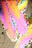 Cristales de hielo coloreados en colores pastel Imagen de archivo libre de regalías