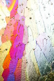 Cristales de hielo coloridos Fotografía de archivo