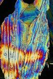 Cristales de hielo coloridos macros imagenes de archivo