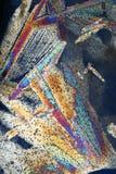 Cristales de hielo en colores del arco iris Fotos de archivo libres de regalías
