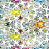 Cristales de hielo inconsútiles de la textura Imagen de archivo libre de regalías