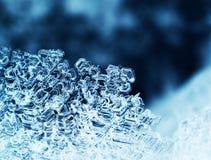Cristales de hielo macros fotografía de archivo libre de regalías