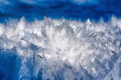 Cristales de hielo natural Fotos de archivo libres de regalías