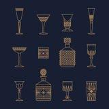 Cristales de la barra ilustración del vector