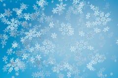 Cristales de la caída de la nieve de la Navidad Fotografía de archivo libre de regalías
