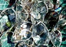 Cristales de la lámpara retra fotografía de archivo