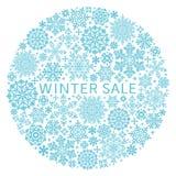 Cristales de la nieve en círculo stock de ilustración