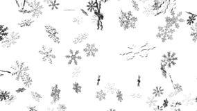 Cristales de la nieve en el fondo blanco libre illustration