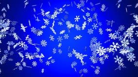 Cristales de la nieve en fondo azul libre illustration