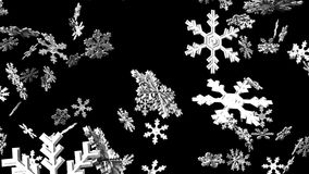Cristales de la nieve en fondo negro libre illustration