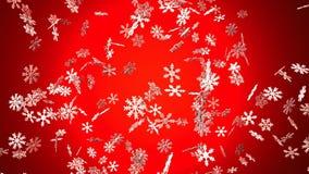 Cristales de la nieve en fondo rojo libre illustration