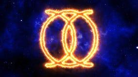 Cristales de la realidad divina - ` OHA de MONA - confianza ilustración del vector