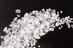 Cristales de la sal del mar Imagen de archivo libre de regalías