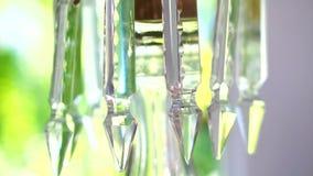 Cristales de lujo de la lámpara clásica almacen de metraje de vídeo