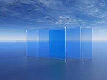 Cristales de una ventana ilustración del vector