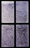 Cristales de ventana helados Foto de archivo libre de regalías