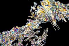 Cristales del ácido acetilsalicílico fotografía de archivo