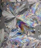 Cristales del ácido cítrico macros Imágenes de archivo libres de regalías