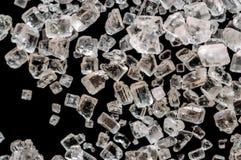 Cristales del azúcar o de la sal macros Imágenes de archivo libres de regalías